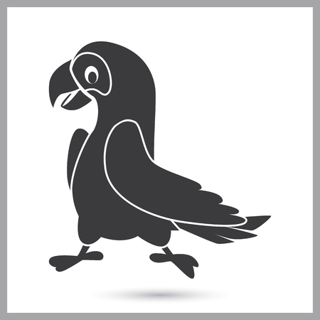 Pirate parrot simple icon