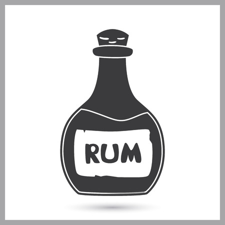 Pirate traditional alcohol drink simple icon Illustration
