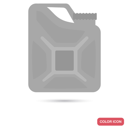 Gasoline canister color flat icon