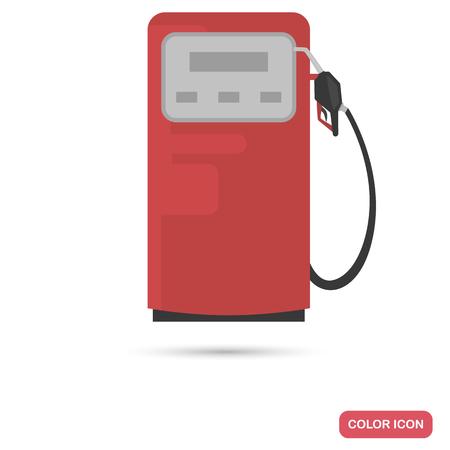 Gasoline column color flat icon
