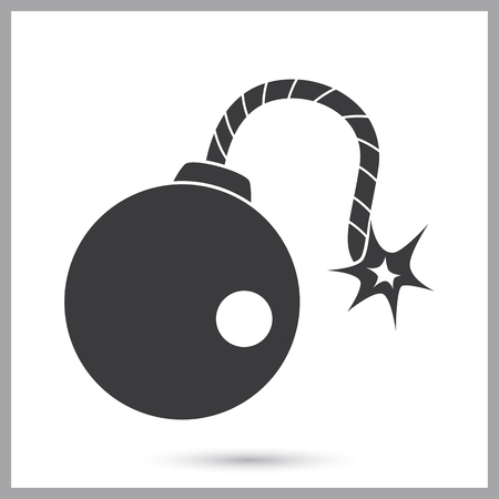 Pirate bomb simple icon on a plain background.