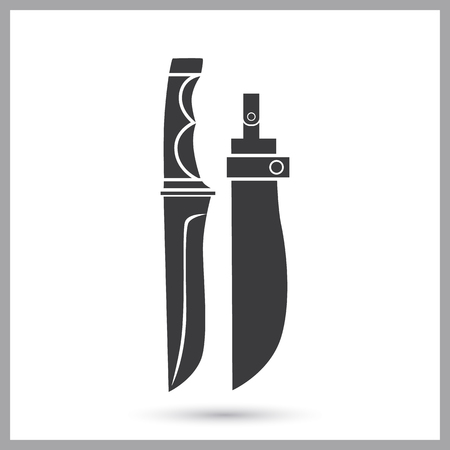 Hunter dagger simple icon