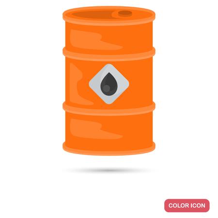Barrel of oil color flat icon