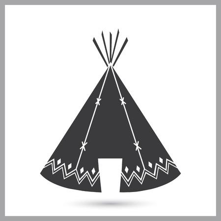 Indians wigwam simple icon Illustration
