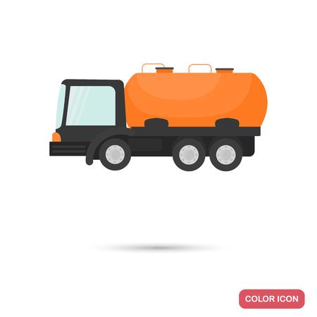Tank car color flat icon