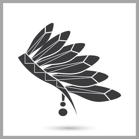 Indios headwear icono simple