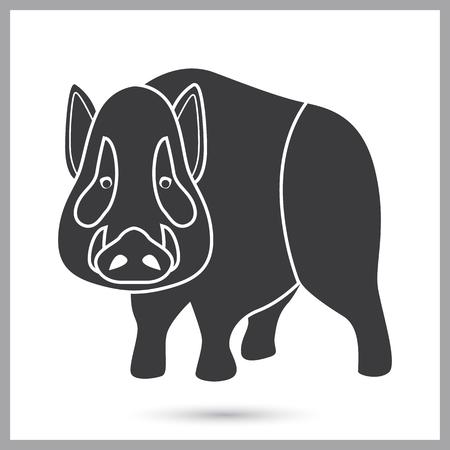Wild boar simple icon