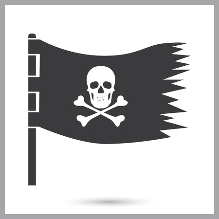 Pirate flag simple icon