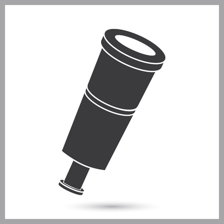 Pirate spyglass simple icon
