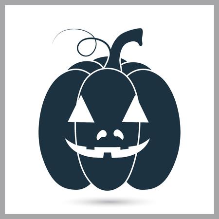 Halloween pumpkin simple stock vector icon Illustration