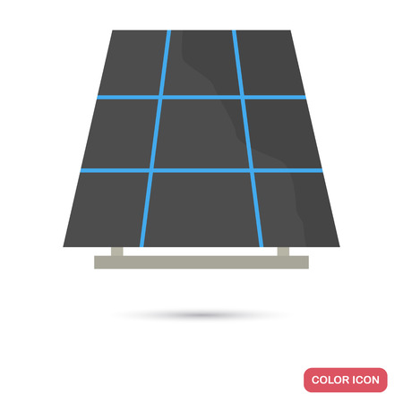 Sun battery color flat icon for web and mobile design