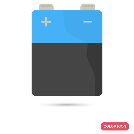 Finger battery color flat icon