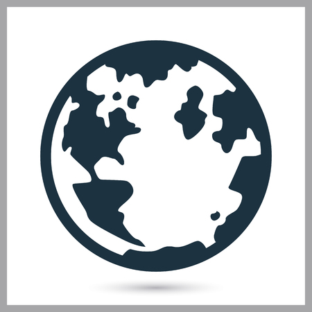Earth planet simple icon