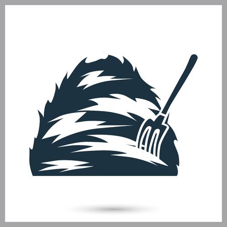Haystack and forks simple icon Illusztráció