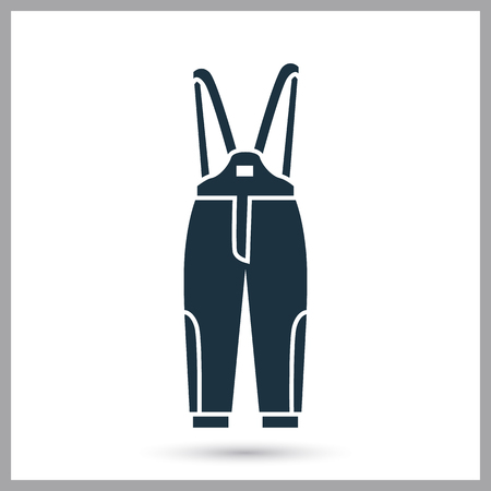 Winter overalls simple icon vector illustration.