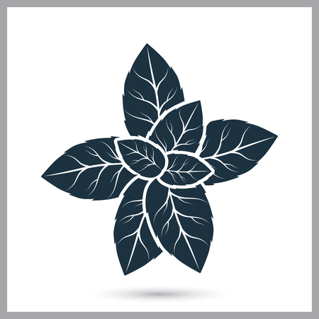 Peppermint simple icon vector illustration.