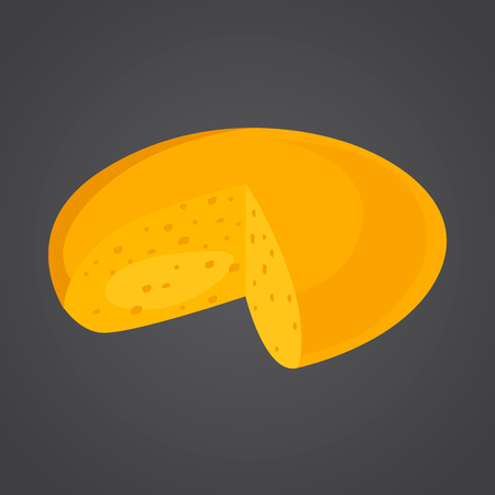 Cheese head color flat icon Ilustrace