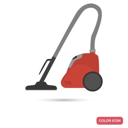 condominium: Home vacuum cleaner olor flat icon Illustration