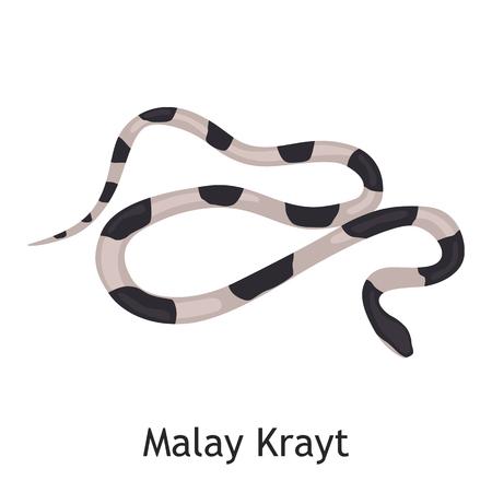 Malay Krayt color flat icon Illusztráció