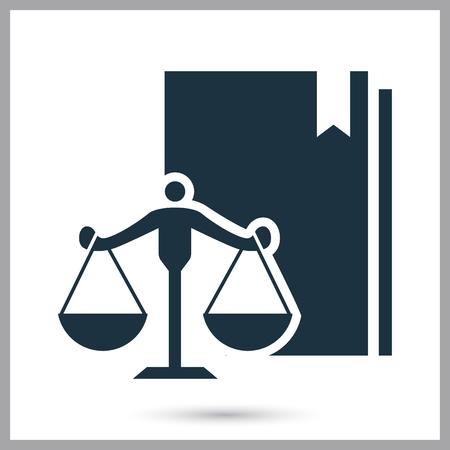 ウェブとモバイルデザインのための法律のコードシンプルなアイコン