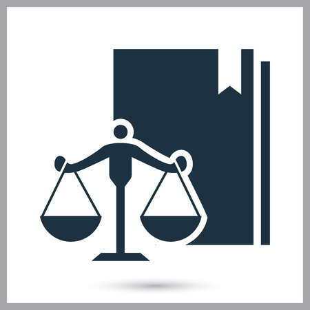 Code of laws simple icon for web and mobile design Illustration