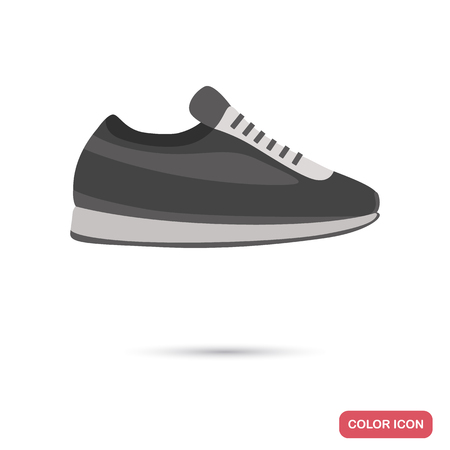 Sports sneaker colored flat icon for web and mobile design