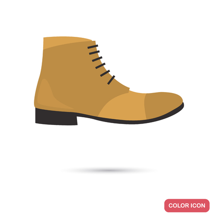 Male shoe color flat icon for web and mobile design