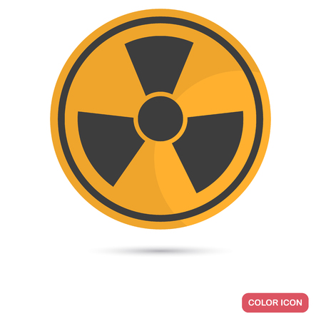 Sign of toxic waste color flat icon for web and mobile design