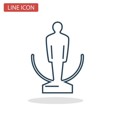 Award cup line icon for web and mobile design.