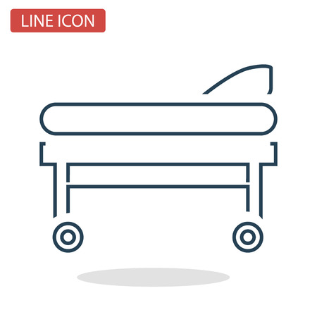 Mobile stretchers line icon for web and mobile design Vectores