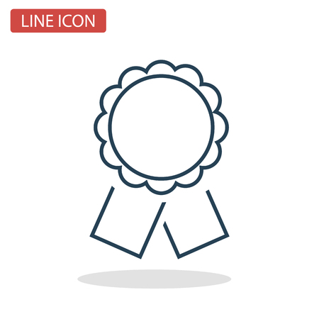 Winner award line icon for web and mobile design.