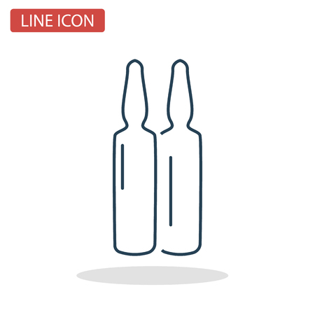 Medical vaccines line icon for web and mobile design Ilustrace