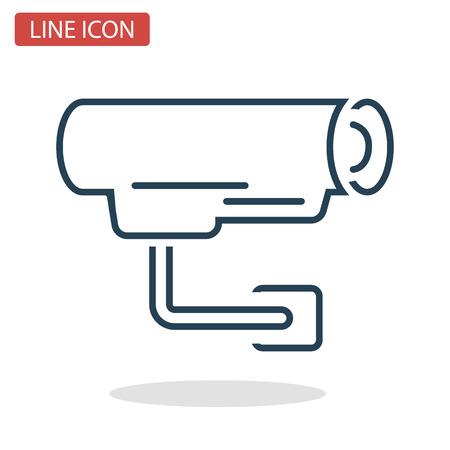Video camera line icon for web and mobile design.