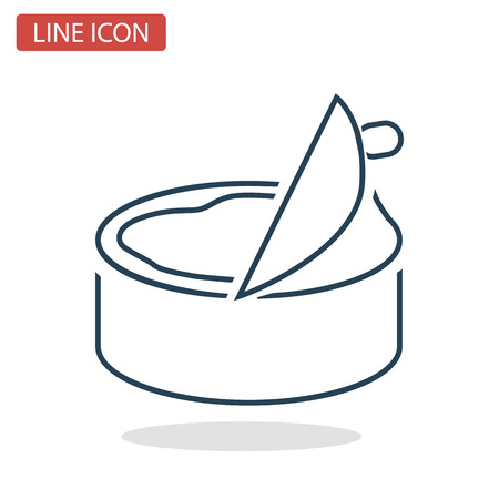 Canned good line icon for web and mobile design Çizim
