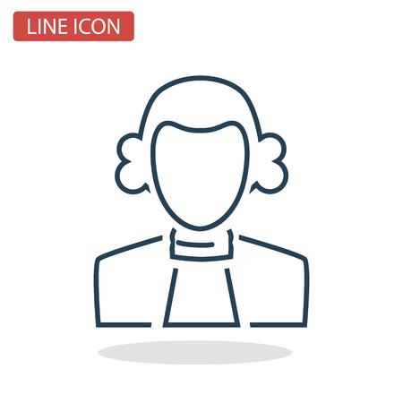 Judge line icon for web and mobile design.