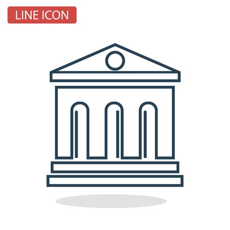 Gerichtsgebäude Symbol für Web und Mobile Design. Standard-Bild - 92511059