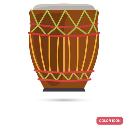 Drum color flat icon for web adn mobile design Ilustrace