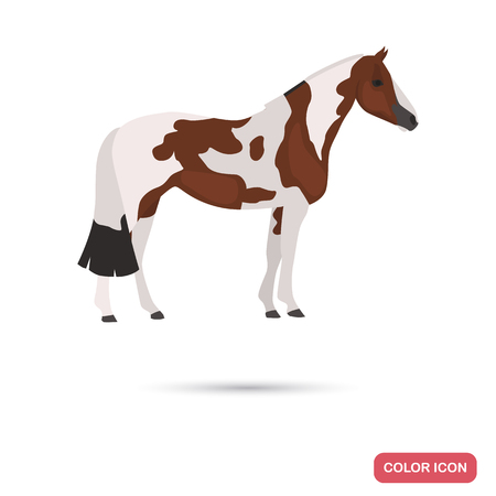 American Painthorse color flat icon Illustration