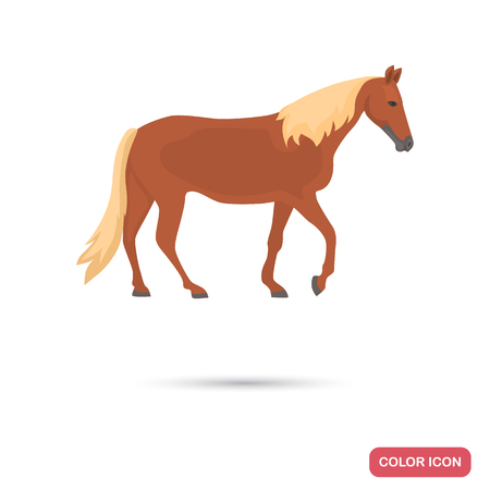 Tennessee walking horse color flat icon
