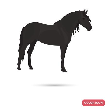 Andalusische paard kleur platte pictogram