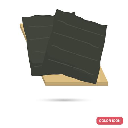 Nori sheets color flat icon Illusztráció