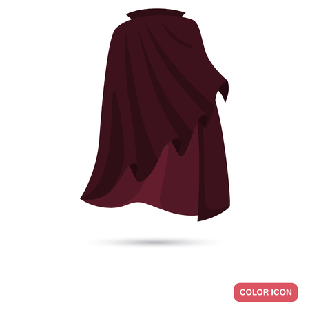 Cloak of the illusionist color flat icon