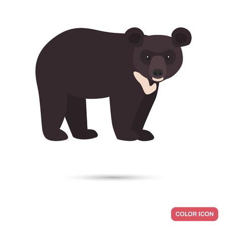 Himalayan bear color flat icon