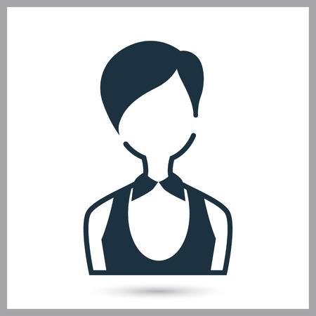 Casino croupier girl simple icon