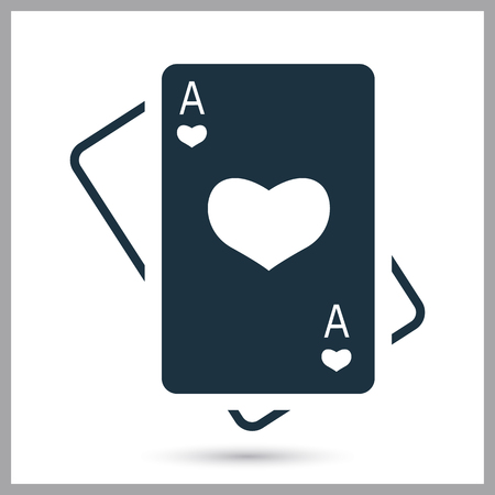 Playing card simple icon