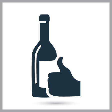 Quality wine simple icon.