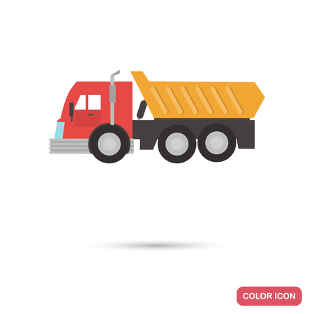 Toy Cargo truck color flat icon
