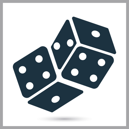 Two dices combination simple icon