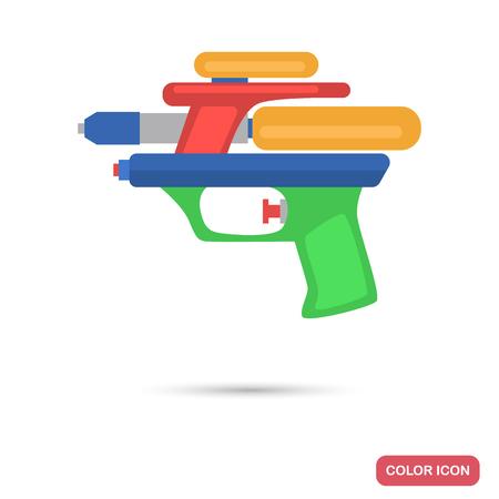 Toy water gun color flat icon. Çizim
