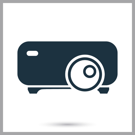 Video projector simple icon Illustration